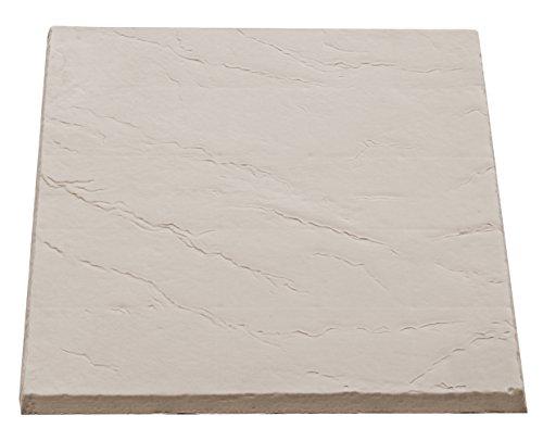 "Flat Rock Rain Barrel and AC Unit Paver Patio Pad 24""x24"" Natural Sandstone Tile – Easy Installation"