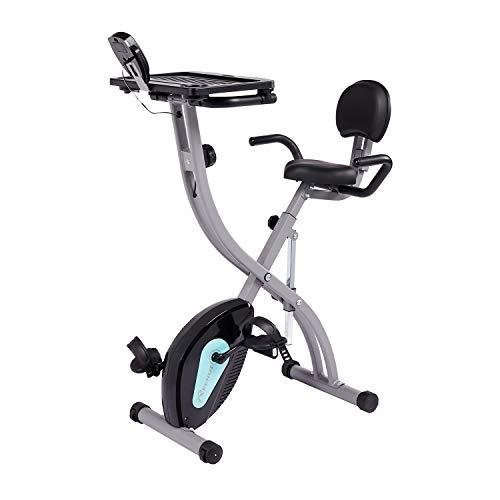 REEHUT Bicicleta Estática Plegable Vertical Bicicleta Indoor Spinning Reclinable de Entrenamiento Aeróbico Cardiovascular Ejercicio de Bajar de Peso Fitness de Ocio