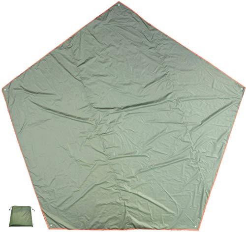iBeamed 5角形 グランドシート ペンタゴンタープ キャンプ フットプリント (グリーン, 400)