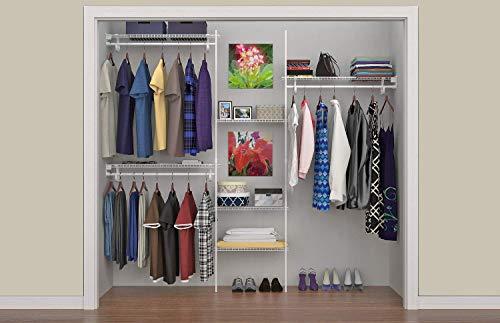 ClosetMaid 5636 SuperSlide 5ft. to 8ft. Closet Organizer Kit, White
