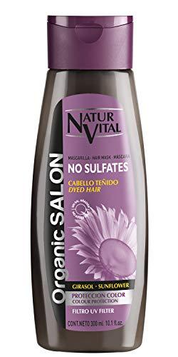 NaturVital Mascarilla Organic Salon Sin Sulfatos Protección Color 300 ml