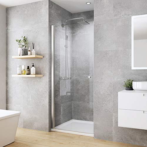 WELMAX Duschtür Duschkabine 80 x 185 cm Pendeltür Duschabtrennung mit Nano Beschichtung