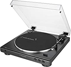 Experience the high fidelity audio of vinyl Fully automatic belt drive turntable operation with 2 speeds: 33 1/3, 45 RPM Anti resonance, die cast aluminum platter Redesigned tone arm base and head shell for improved tracking and reduced resonance Ac ...