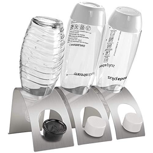UNEEDE 3 Pack Premium Sodastream Abtropfhalter aus Edelstahl, Flaschenbürste Abtropfhalter Ständer Flaschenhalter Zubehör für Sodastream Crystal, Emil-Flaschen und andere Glasflaschen