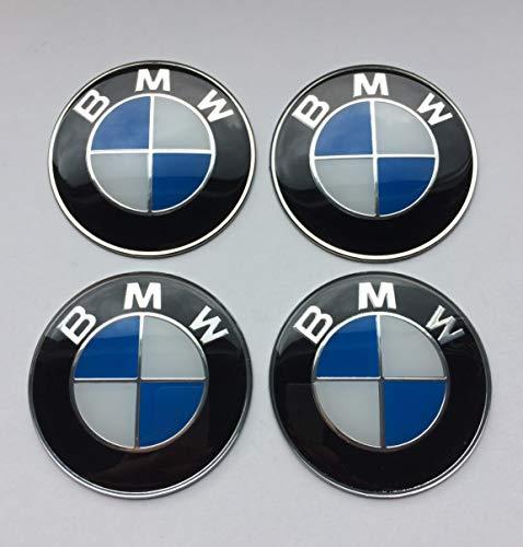4 Rad mitte kappen aufkleber 60 mm BmwEmbleme gewölbt logo nabendeckel felgenkappen