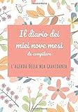 Il diario dei miei nove mesi da compilare | L'agenda della mia gravidanza: diario di gravidanza da compilare | Giornale di bordo della mia gravidanza | Il diario della mamma incinta