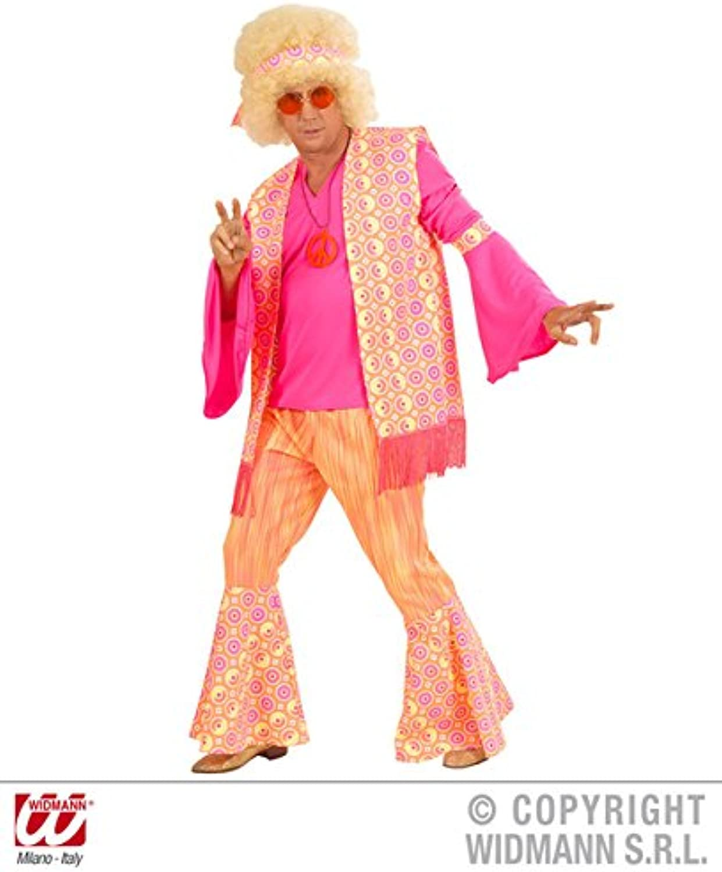 Mens HIPPIE MAN Costume for Hippy 60s 70s Mod Retro Vintage Classic Fancy Dress Outfit XL 46  chest
