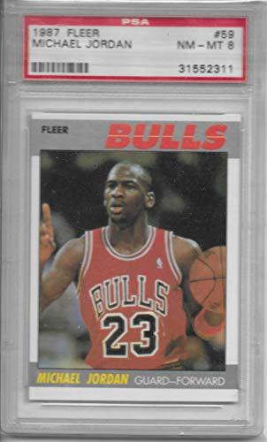 1987 Fleer Michael Jordan Basketball Card #59 Graded PSA 8 NRMT-MT