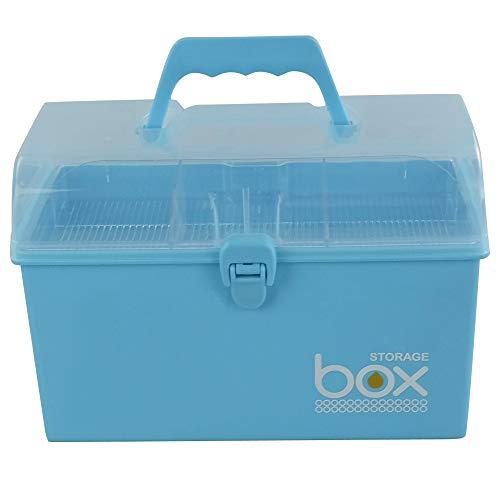 Rinboat Erste Hilfe Medizin Aufbewahrungsbox Behälter Hausapotheke Box, Blau, 1 Packung