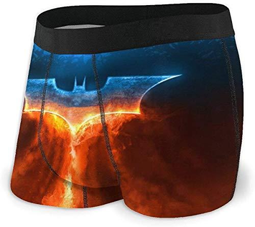 SBLB Game Bat-Man Herren Unterwäsche Stretch Boxershorts für Männer Kurze Bein Unterhose Atmungsaktiv Bequeme Faser Pack Gr. S, einfarbig