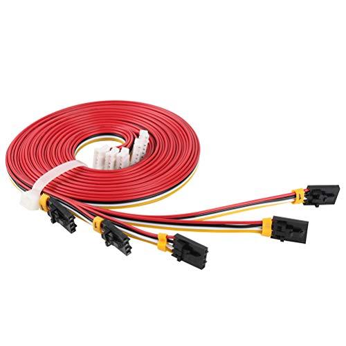 LeeBoom 5Pcs 1m NAMA17 42 Cables de pasos de Motor para Rambo Einsy Rambo Rambo 1,3 1,4 F Prusa I3 Cables de impresoras MK2 MK2 MK3 3D