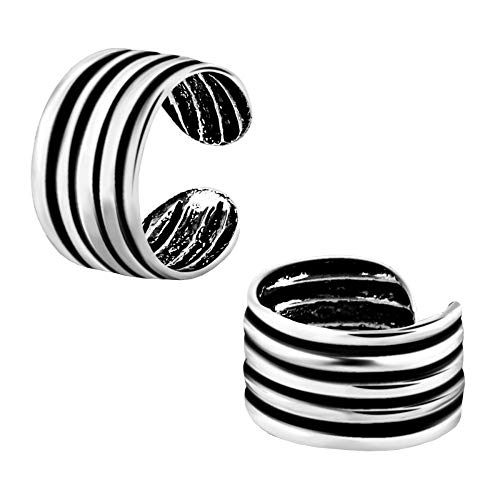 lau-fashion Helix Ohrmanschette Ring Design Unisex Ohrclip Fake Piercing 925 Silber Ø 9mm
