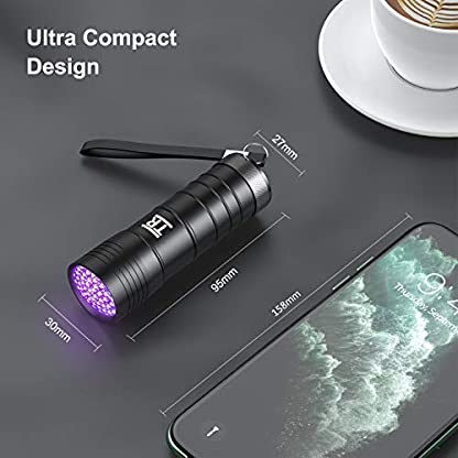 UV Torch, TechRise 12-Led LED UV Flashlight Pets Blacklight Dogs/Cats Urine Detector, Ultraviolet Flashlight Find Dry Stains on Clothes, Carpets or Floor 4