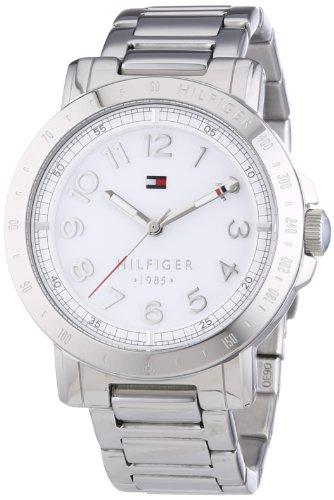 Tommy Hilfiger Liv - Reloj de Cuarzo para Mujer, con Correa de Acero Inoxidable, Color Plateado