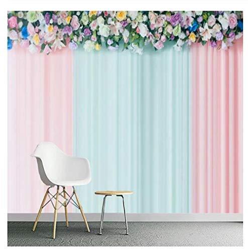 Behang muurschildering 3D behang vloer behang Rose gordijn muurschildering 430 Cm*300 Cm