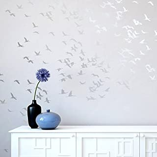 Flock of Cranes Stencil - Wall Stencils for DIY Decor
