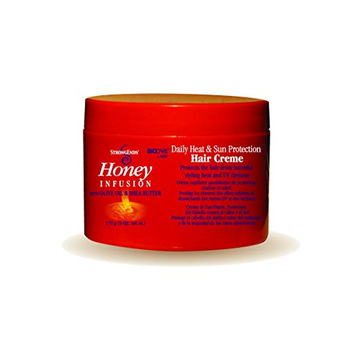 Biocare Labs StrongEnds Honey Infusion Full Repair Temple Balm with Olive Oil and Shea Butter, 6 Oz.