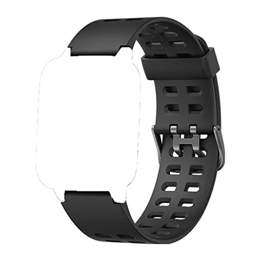 HOTSO Correas Repuesto para ID205L, Durable y Suave Silicona Banda Correa de Reemplazo (23mmm) Compatible con Pulsera Reloj Inteligente ID205, ID205L, ID205S Universal (Negro)