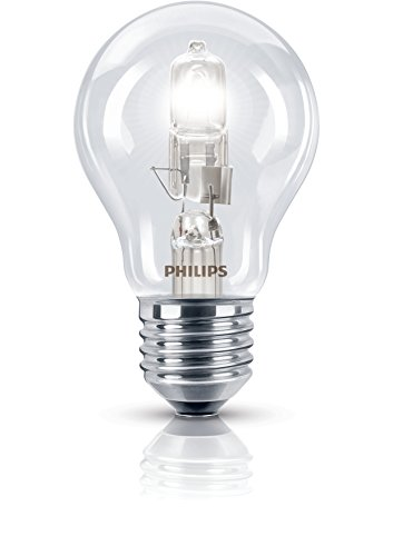 Philips Lot de 5 ampoules halogène traditionnelles E27 Culot à vis 70 Watt 240 V
