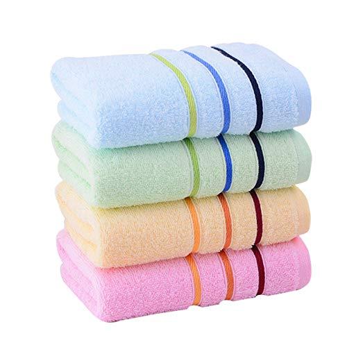 WGDPMGM Toalla (Cuatro Paquete) Toallas de algodón Puro, Toda la Familia Puede Usar, 100% algodón, Cuatro Combinaciones de Colores, 74x33cm, 85 g (Number of Pcs : 4pcs, Size : 74x33)