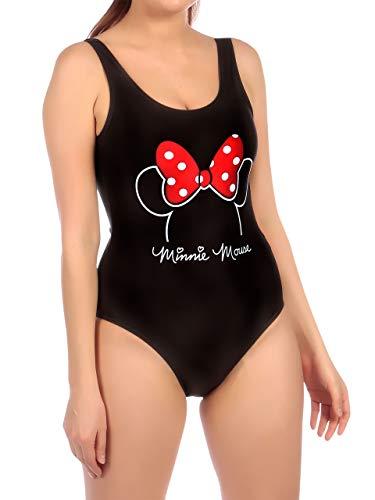 Disney Damen Minnie Mouse Badeanzug Schwarz Large