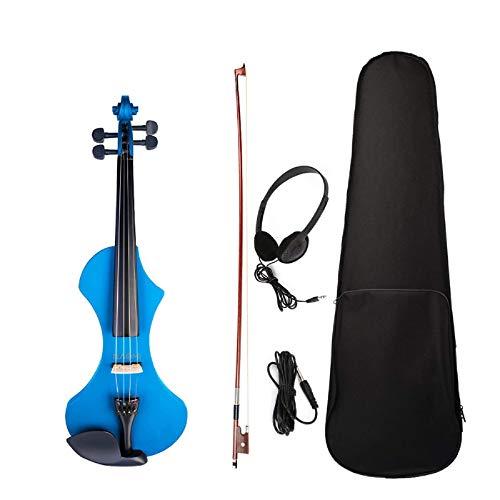 Violín eléctrico de tamaño completo 4/4, violín tallado a mano, cuerpo de...