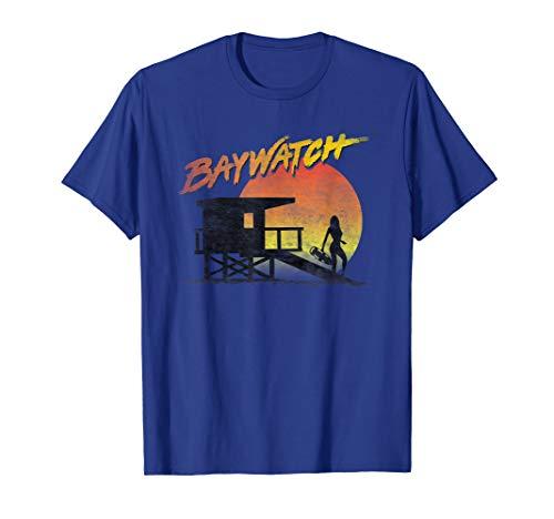 Baywatch Lifeguard Sunset T-Shirt, Adults, Youth Sizes