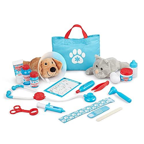 Melissa & Doug Examine and Treat Pet Vet Play Set (24 pcs)