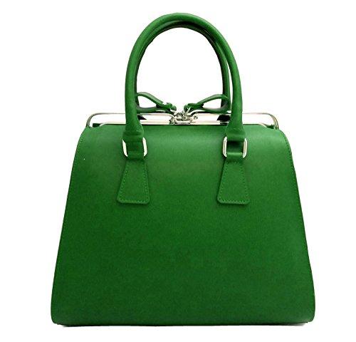 Contessa dal pozzo Candy, Borsa a mano Donna, Verde, 35x25x15 cm (W x H x L)
