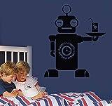 YUNZHIFU Robot camarero arte vinilo adhesivo información camarero habitación...