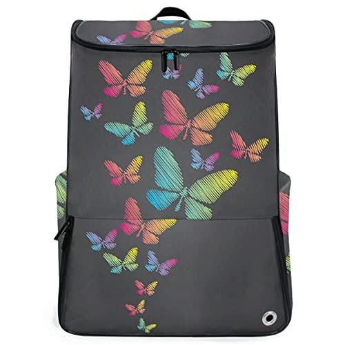 YUDILINSA Sac à Dos extérieur,craie dessiné de papillons sur tableau noir,Sac à Dos...