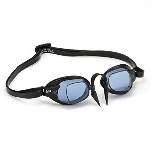 MP™ (Michael Phelps) Unisex– Erwachsene Chronos Schwimmbrille, Getönte Gläser - Schwarz/Schwarz, One Size