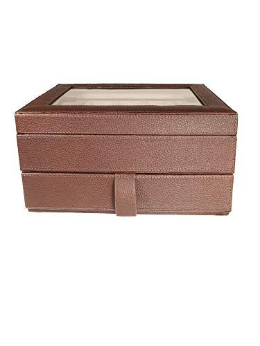 Fossil MLG0642 Uhrenkassette Watch Box Leder Uhrenbox für 10 Uhren Braun