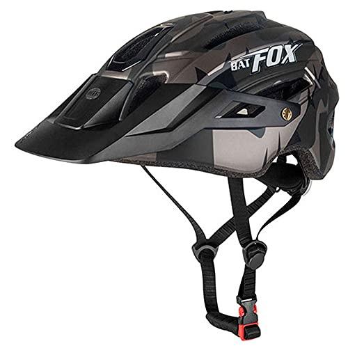 BAT FOX Casco de Bicicleta de montaña para Adultos Casco