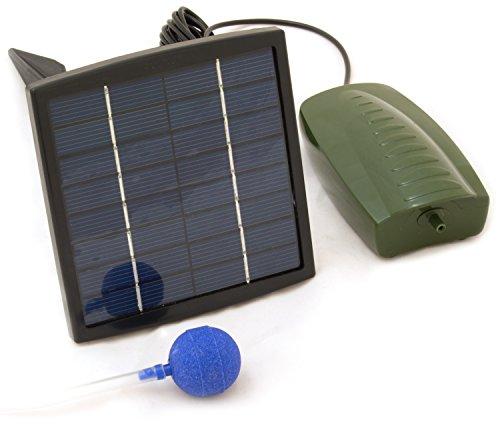 OXBRIDGE - Sauerstoffpumpe für den Gartenteich - solarbetrieben - 1 Sprudelstein