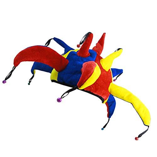 Halloween Divertido del Payaso Sombrero Corte Sombrero del bufón del Sombrero del Partido del Traje de Fiesta de Halloween decoración 1PC