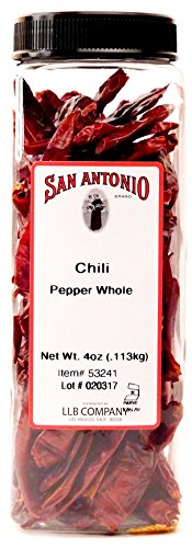 San Antonio Premium Dried Whole Red Chili Peppers Chile Pods, 4-Ounce