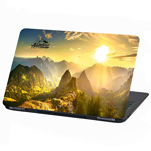 Laptop folie Cover Adventure plakfolie notebook sticker beschermhoes zelfklevend vinyl skin sticker 15 Zoll LP14 Mountain Sun