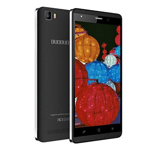 Moviles Libres Baratosde 5,2''Pulgadas Teléfono Móvil 16GB ROM Android 8.1 Quad Core Smartphone Libres 2800mAh Batería Dual SIM Dual Cámara Moviles Buenos (Negro)