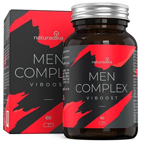 VIBOOST MEN COMPLEX | Fórmula Específica para HOMBRE | Acción SECRETPOWER, VIGOPULSE y ENERTOP | 11 ingredientes Súper Concentrados | Con Maca Andina, Zinc, Tribulus Terrestris, Ginseng y Arginina