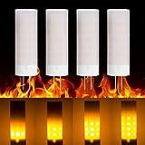 Luz de llama Base LED G4 2W Bombillas de efecto de fuego 36LEDs 2835...