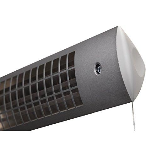 XIMAX Infrarotstrahler Terrassenheizung Heizstrahler ohne Ventilator IP24, Silber/Grau, 1800 Watt, 42022 - 3