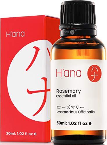 Olio essenziale di rosmarino per la crescita e la perdita dei capelli (30 ml) – 100% puro grado terapeutico – Hana.