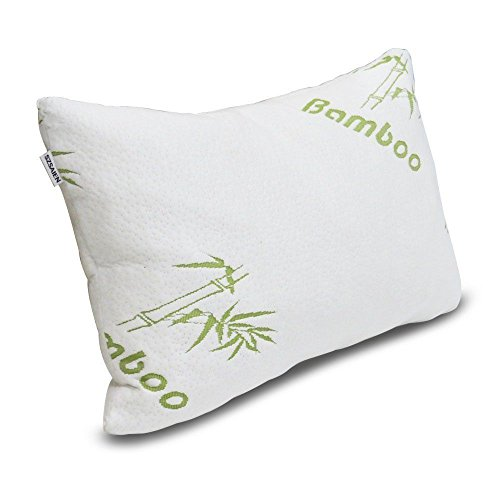 BeddingHome - Protector de colchón Acolchado de Espuma viscoelástica y Almohada (Almohada de bambú, 1 Almohada de bambú)