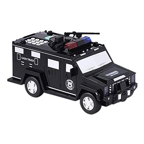 Tangzhan Hucha con código en forma de coche con luz, recargable de simulación automática, caja fuerte, juguete multifuncional para niños