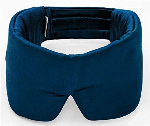 Schlafmaske SleepMaster - Elegant und hochwertig aus Satin - Blau - Patentierte Schlafbrille & Augenmaske für Frauen und Männer