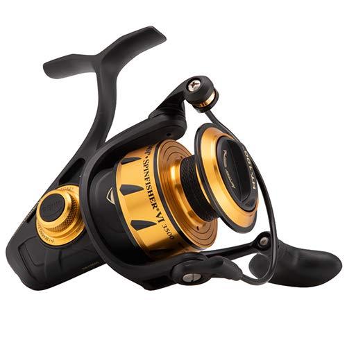 Penn 1481261 Spinfisher VI Spinning Saltwater Reel, 3500 Reel Size, 6.2: 1 Gear Ratio, 37' Retrieve Rate, 6 Bearings, Ambidextrous