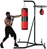 Punching Bag Stand Holds,Heavy-Duty Boxing Punching Bag Rack, Free Standing Boxing Bag Stand for Home Fitness for Adult Youth, Kickboxing Bags