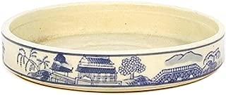 Crespi Bonsai V089/3 Plato para bonsai, decorado azul y