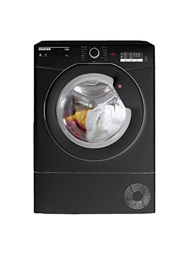 Hoover HLC8LGB Freestanding Condenser Tumble Dryer, Sensor Dry, 8 kg, Black